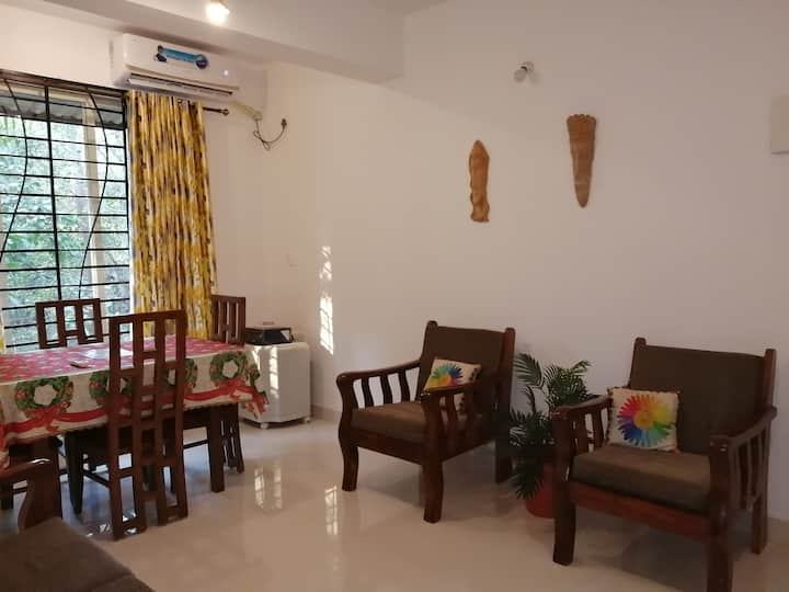 Goan 1BHK with Balcony, Vagator Beach North Goa