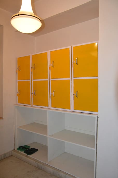 Attached locker and changing room