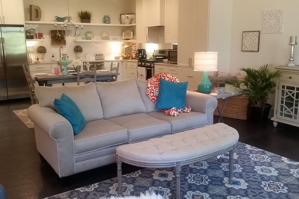 living/dining/kitchen open floor plan