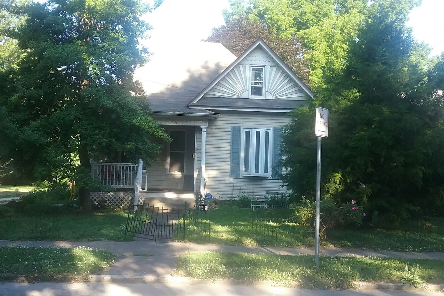 Front of my Victorian home , built in 1899. Has been updated. my driveway, garage and  wild garden are in the back.