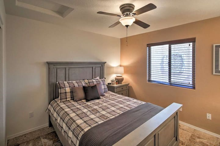 The third bedroom also houses a queen bed.
