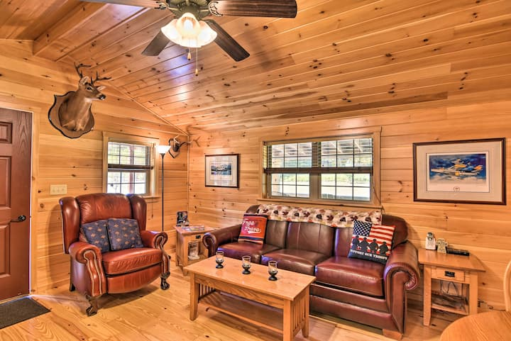 NEW! Pet-Friendly Cabin w/ Fire Pit & River Access