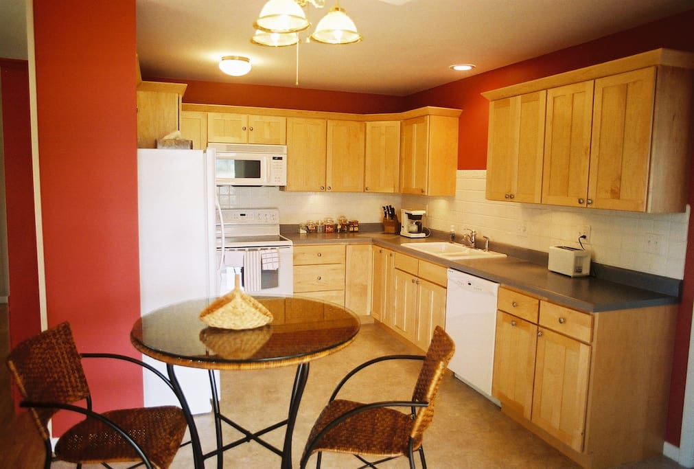 Fully equipped kitchen. You supply the food and creativity.