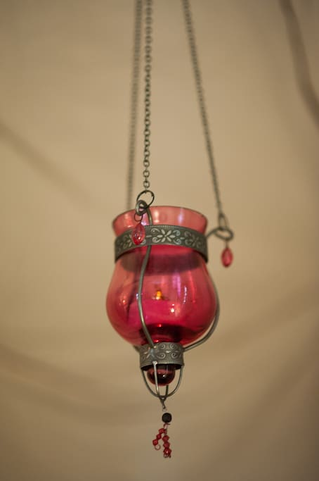 You have little Moroccan lamps in your room