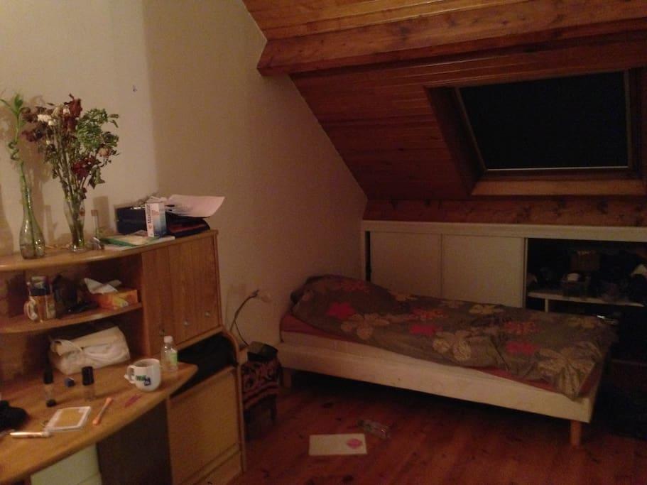 Chambre Mansardee Loi Carrez : Grande et belle chambre dans maison houses for rent in