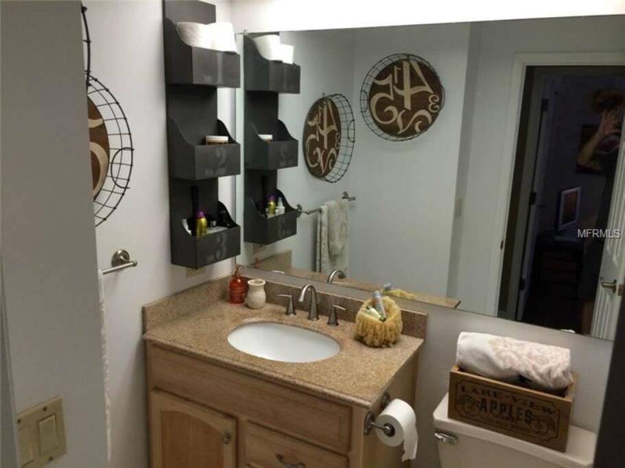 Personal guest bathroom