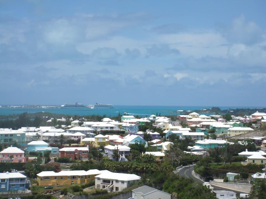 Panoramic views of the island