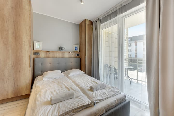 Small Studio Apartment with Balcony
