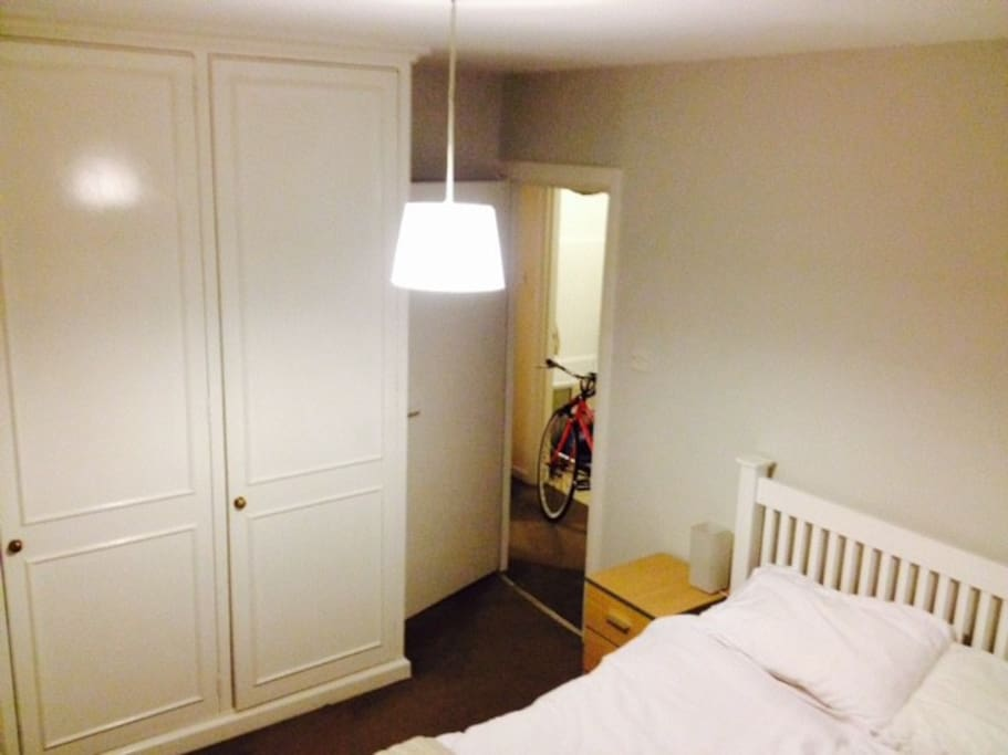 Bedroom with in-built wardrobes