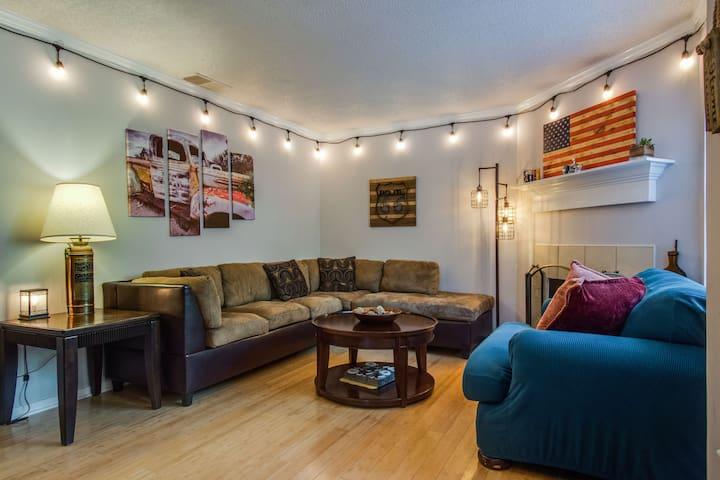 ❤️40mins 2 Charleston, 5 Beds, patio, BBQ, firepit
