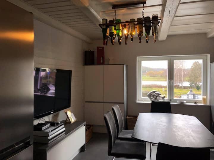 idyllisches Ferienhaus für 6 Personen im Elbtal