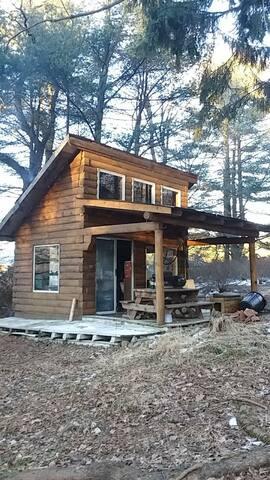 Beautiful tiny home log cabin!