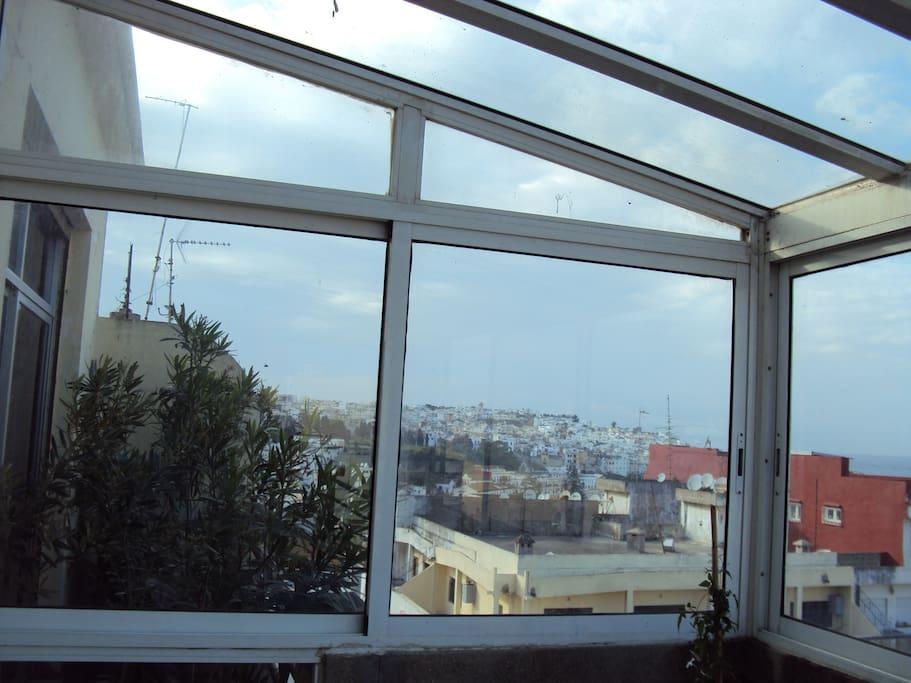 vue sur kasbah depuis véranda