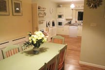 The large kitchen/dining area.
