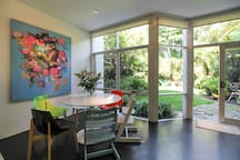 Dining area, full of colour and light