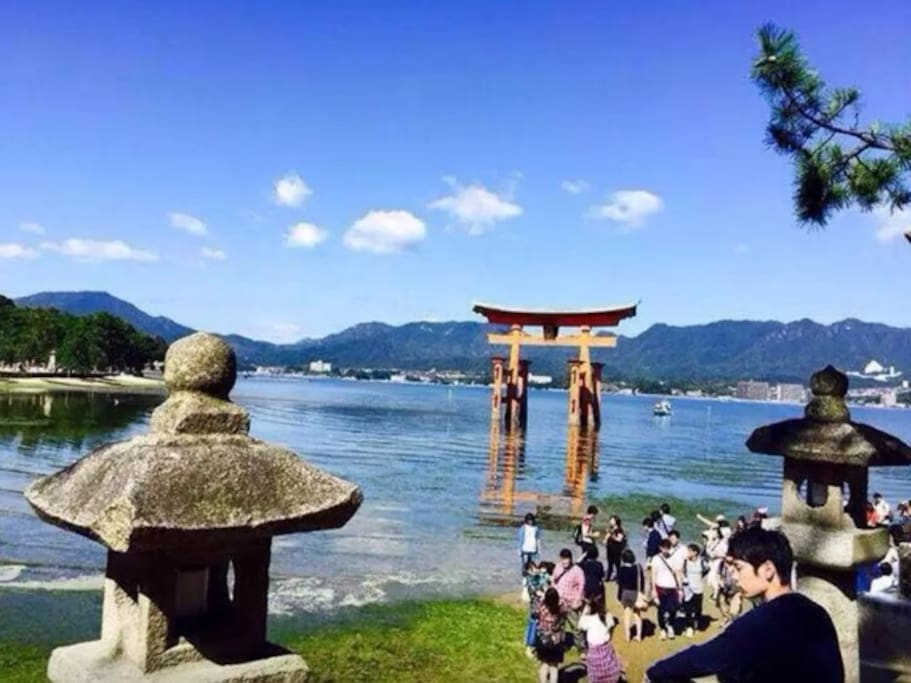 Miyajima : One of the top three scenic spots in Japan.