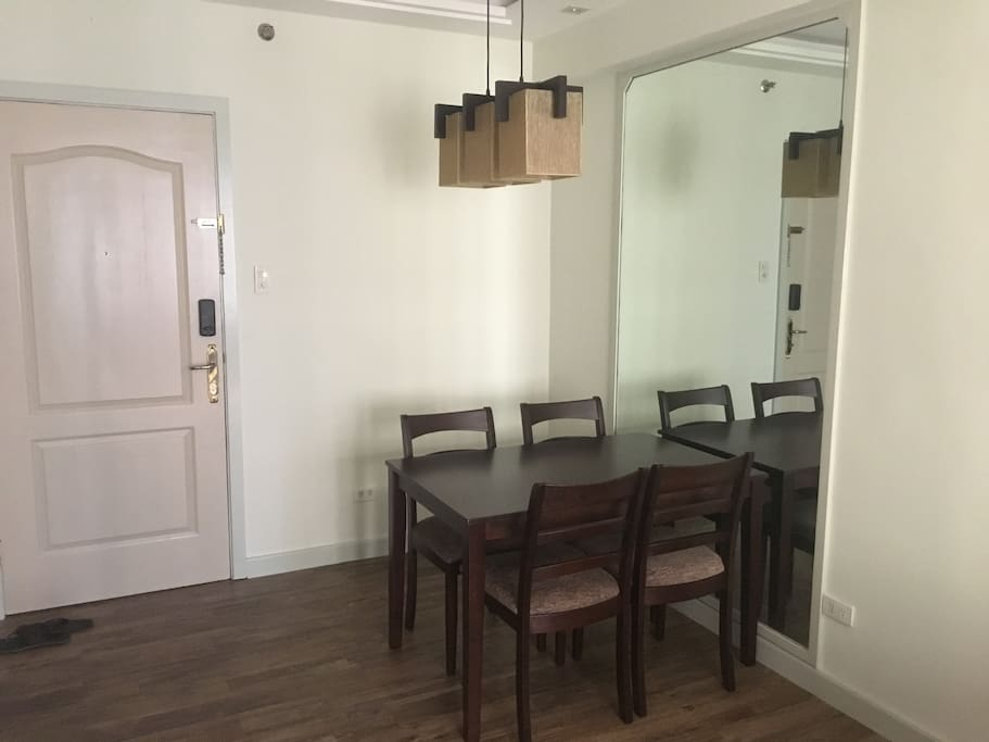 Dining area that can also be used for work.