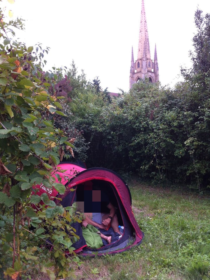 Emplacement tente centre Marciac