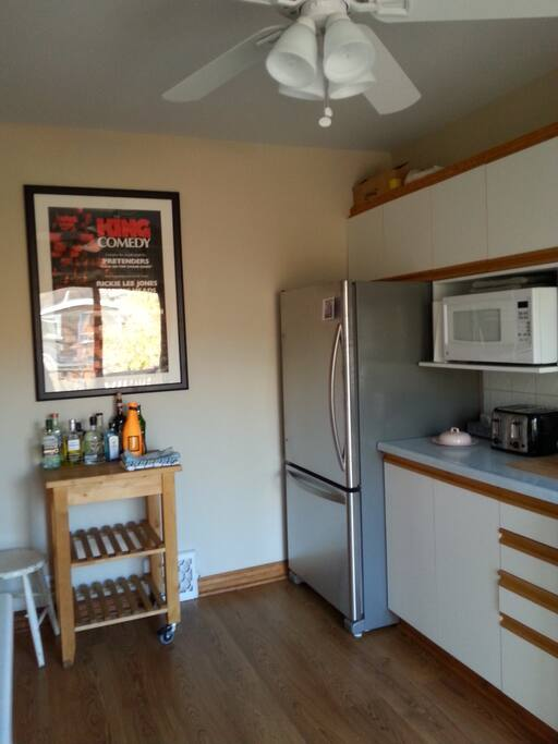 Fully equipped kitchen with separate dining room and large deck
