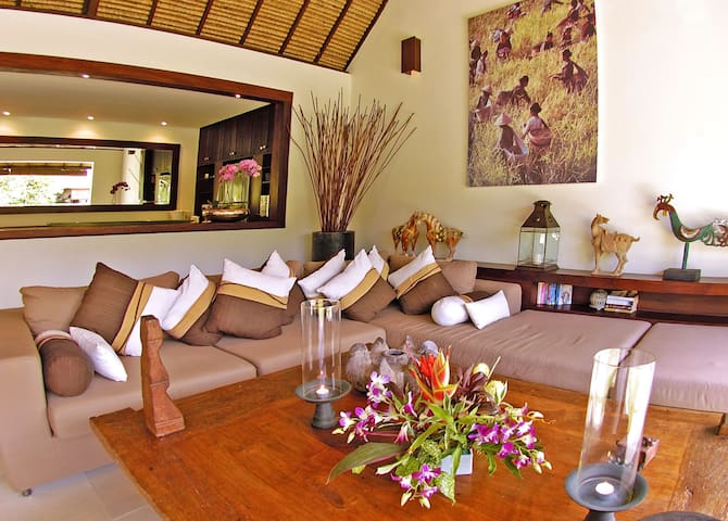 Living room- two bedroom pool villa deluxe