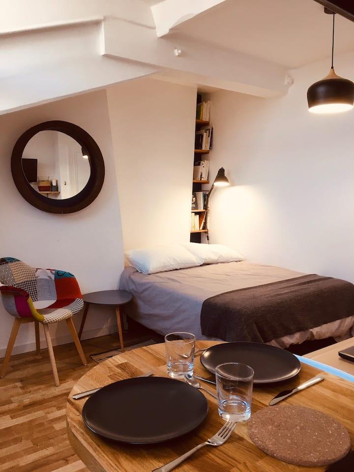 Studio chaleureux entre Paris et Stade de France
