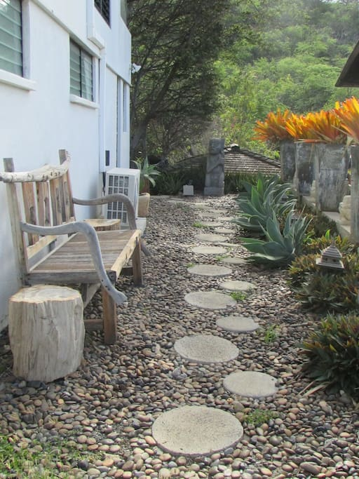 Pathway entrance to cottage