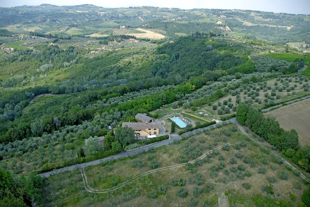 On the top of the hill, in the heart of the Chianti.