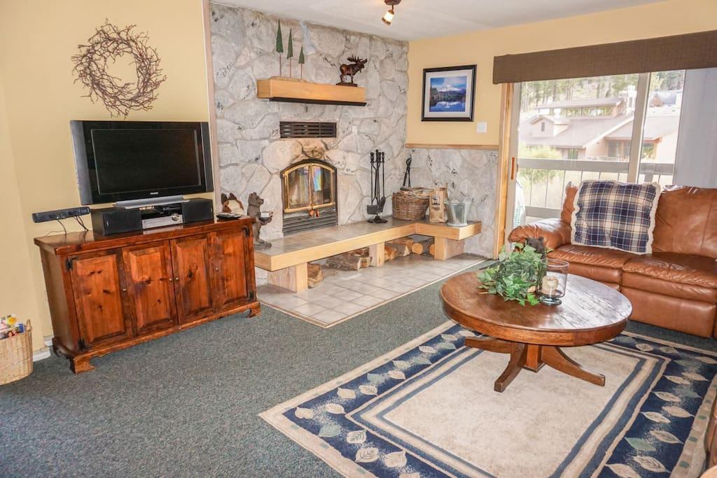 Huge fireplace