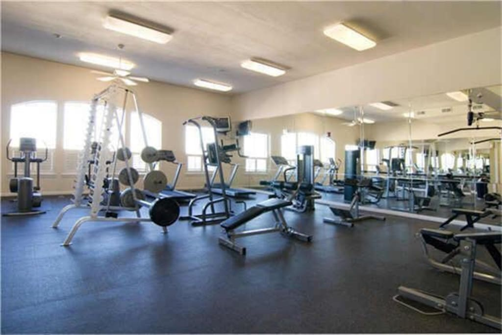 Gym is located on the fourth floor
