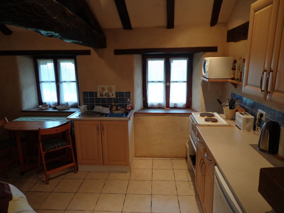Well equipped Kitchenette and dining area