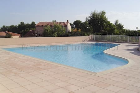 1 bedroom apt with pool  and aircon WIFI - Biot - Wohnung