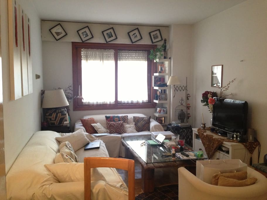 Living room during the day -- plenty of natural light: high speed wifi, air conditioning, heating, television