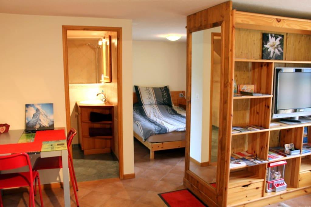 Grand studio meubl tr s calme maisons louer for I meuble martigny