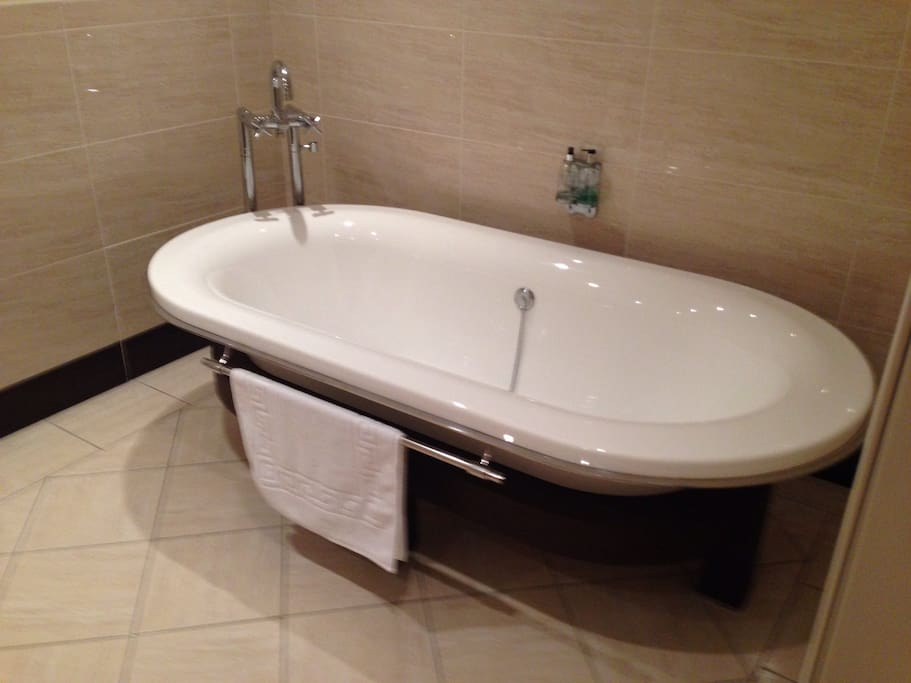 Roll top porcelanosa bath and shower