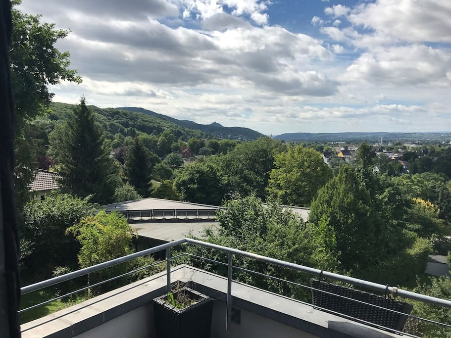 View from the upper balcony to the Siebengebirge