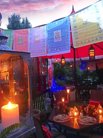 Sunset Dinner in the Gardens