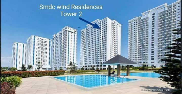 Condo with clear Taal Lake View @ Wind Residences