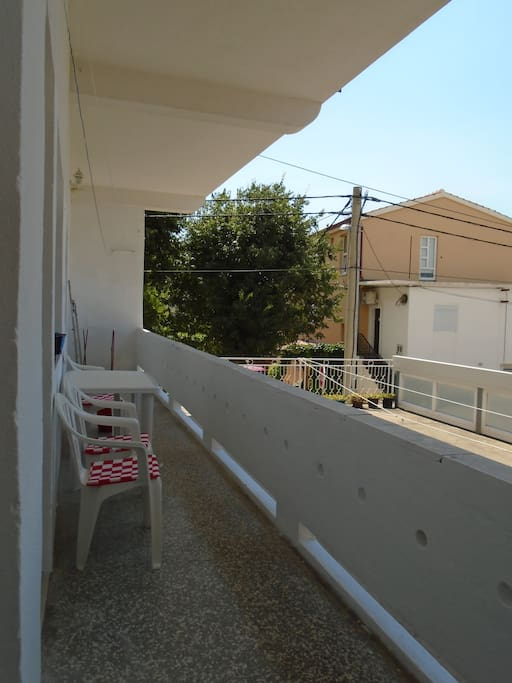 The balcony, all rooms have access to the balcony