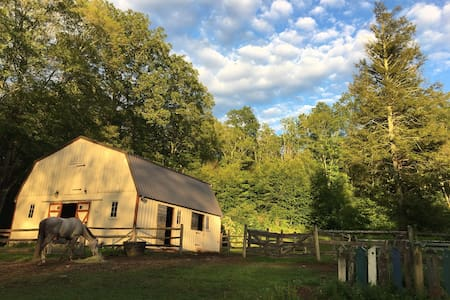 TWIN PINESgroup campsite/bohemian/rustic/barn