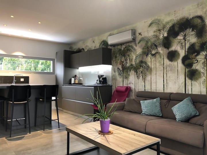 T2 42 m2 avec terrasse vacances et cures 4 pers