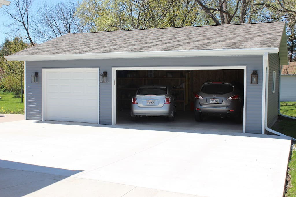 A driveway and garage to park up to 3 vehicles. A Weber Grill is also available for your grilling enjoyment.