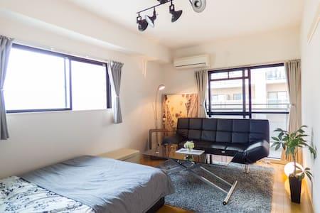 J/菊)4 min Kyoto sta & free wifi - Kyōto-shi - Apartemen
