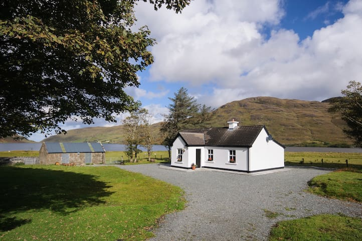Cottage on the shores of Lough Fee