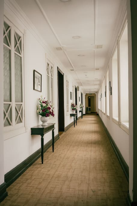 Beautiful corridor leading to the apartment
