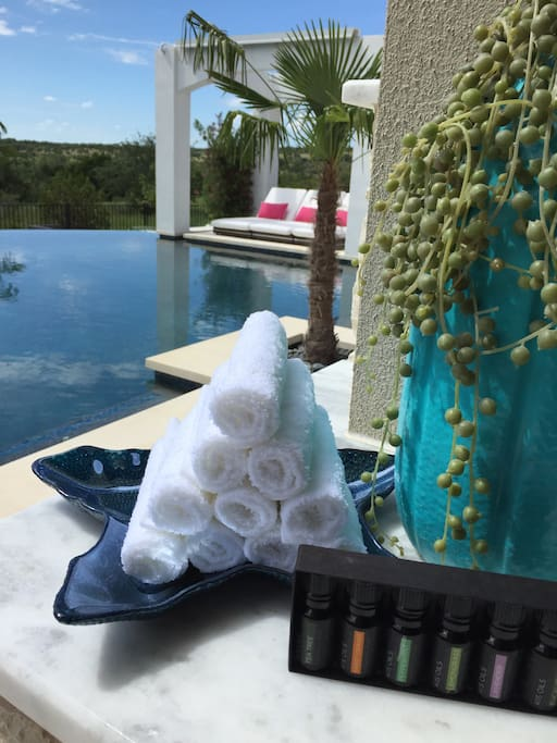 Welcome to paradise with a refreshing lavender scented towel.