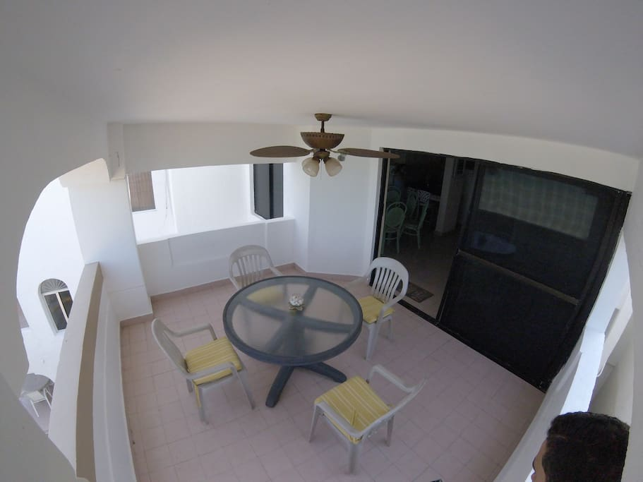 Balcony. GoPro picture.