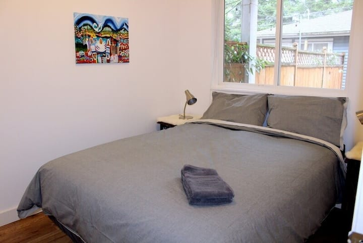 One Bedroom Garden suite close to Commercial Drive