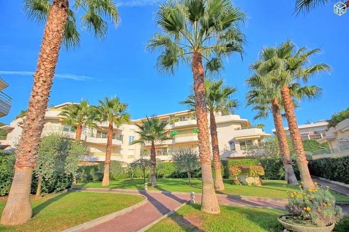 300m plages, au calme, piscine, climatisation - Villeneuve-Loubet - Apartment