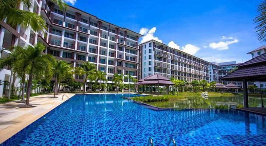 AD Studio Bangsaray pool&lake view - Tambon Bang Sa-re - Appartamento