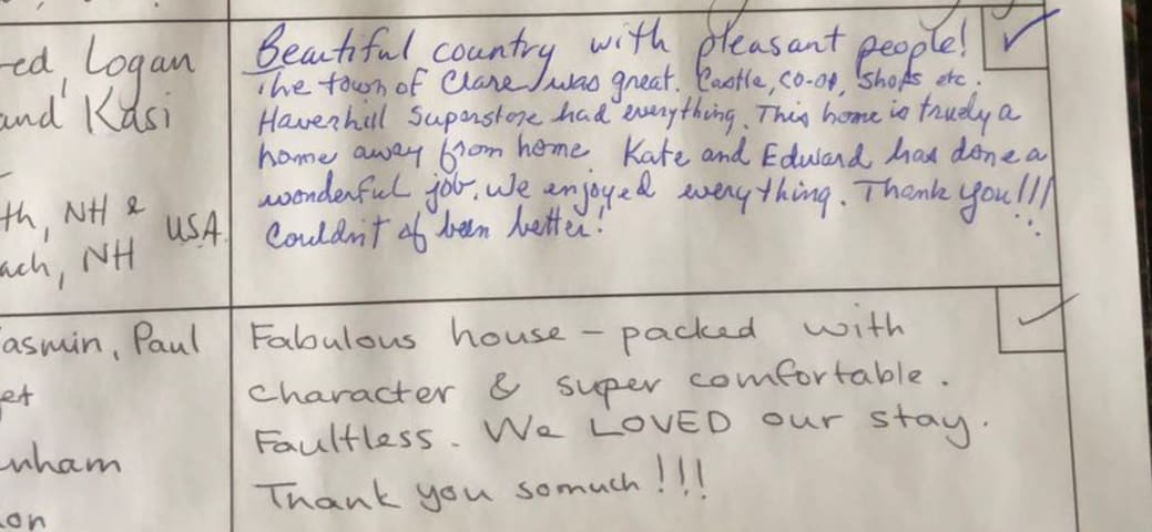What our lovely guests say